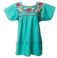 MEXICAN BLOUSES ANY COLOR Embroidered Floral PUEBLO AUTHENTIC Oaxaca Top PEASANT