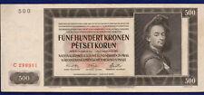 More details for czechoslovakia, bohemia & moravia, 1942 500 korun banknote (ref. b1166)