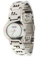 FENDI Women's Orologi Silver White Round Face 24 mm Watch 134569