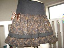 Steampunk clocks skirt vintage Black brown lace Gothic Rock Party Festival metal
