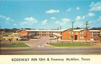 McAllen Texas 1960s Postcard Rodeway Inn Motel