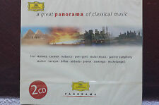 Rare Panorama of Classical 2 Cd Set Deutsche Grammophon 2 Hours plus Sealed