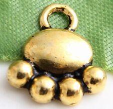 Free Ship 130pcs Gold tibetan silver bear paw charms 14x12mm