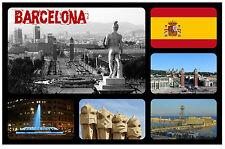 BARCELONA, SPANIEN - SOUVENIR NEUHEIT KÜHLSCHRANK-MAGNET - SEHENSWÜRDIGKEITEN