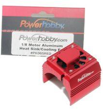 Powerhobby Aluminum Motor Heatsink Cooling Fan 1/8 Red Castle Creations 2200kv