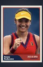 EMMA RADUCANU TENNIS STAR 2021 US OPEN CHAMPION CUSTOM MADE RETRO STYLE ART CARD