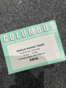 Columbus Single Range Push Button 10sec-10min Timer Switch 390A
