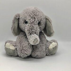 "Aurora World 9"" Gray Baby Elephant Plush Stuffed Animal Soft Cuddly Sitter 2018"