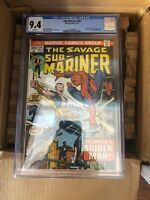 Sub-Mariner #69; CGC NM 9.4, Spider-Man