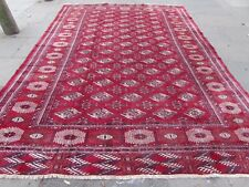 Old Hand Made Traditional Persian Oriental Wool Rich Red Large Carpet 384x267cm