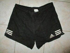 Short ADIDAS vintage noir style rugby 90'S coton sport détente loisir F 48 D8 XL
