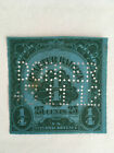 US Revenue Beer Stamps - Series of 1909 Quarter Barrel 25 cents - Perf Cancelled