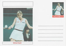 CINDERELLA 4615 - CHRIS EVERT  (tennis) on fantasy Postal Stationery card