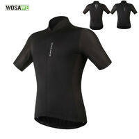Mens Cycling Jersey Short Sleeve Breathable Full Zipper MTB Road Bike Shirt Tops