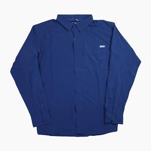 Columbia Triple Canyon Solid LS Fishing Shirt Mens XXL 2XLT Tall BNWT Blue New