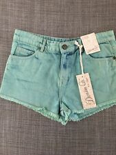 Green High Waisted Denim Shorts New With Tags Primark Size 10 RRP £10