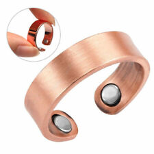 New ARTHRITIS SOLID MAGNETIC COPPER RING WITH2 - 2,000 GAUSS MAGNETS SIZES 8