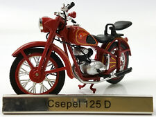 1/24 Atlas Csepel 125 D Red motorcycle model
