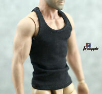 "1/6 Scale Male Man Underwear Tactical Vest in Black For 12"" Muscle Action Figure"