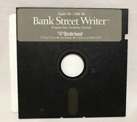 Bank Street Writer - Apple II Broaderbund - IIc 128k IIe Program Floppy Disk VTG
