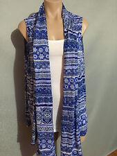 Womens Sz 16 Autograph Soft Mosaic Print Sleeveless Drape Tunic Top