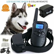 More details for rechargeable pet dog training collar lcd electric shock anti-bark remote control
