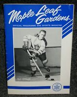 DEC 4 1963 MAPLE LEAFS VS CANADIENS MLG OFFL PROGRAM STANLEY CUP CHAMPS SEASON