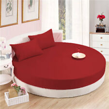 6 Piece ROUND BED SHEETS SET SOLID 800TC EGYPTIAN COTTON ALL SIZES & ALL COLORS