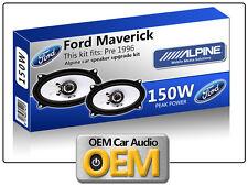 Ford Maverick Front Door speakers Alpine car speaker kit 150W Max power 4x6
