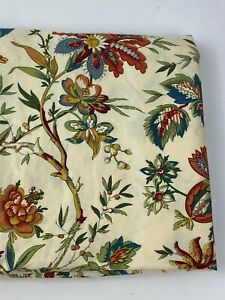 WAVERLY Home Classics Jacobean Floral Felicite Creme Window Curtain panel