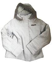 Animal Parker cálido abrigo beige de algodón Talla 10 de piel sintética y Damas