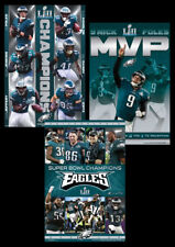 Philadelphia Eagles SUPER BOWL LII CHAMPIONS Official 3-POSTER Combo Set Posters