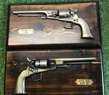 Vintage Pair Of Ornamental Decorative Brass Guns VGC,
