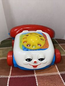 Vintage 2000 Fisher Price Chatter Phone Telephone Pull Toy with Moving Eyes Kids