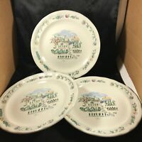 "Set of 3 Pfaltzgraff APPLE VALLEY 11"" Dinner Plates"