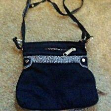 Thirty-One Pop Expandable Messenger Cross Body Bag Long Strap black zigzag 31