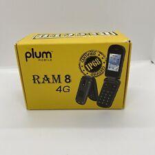 Plum Ram 8 Flip Phone Unlocked Water Resistant Shockproof Rugged Talk & Text