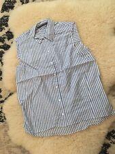 zara sleeveless blouse shirt blue white stripes new without tag size M