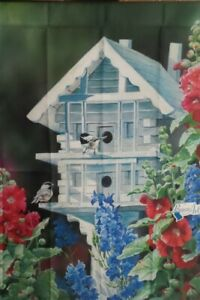 White House Birdhouse Standard House Flag by Breeze Art #5955 Chickadee