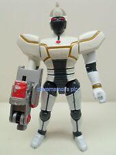 Beetleborgs Bandai 1997 WHITE BLASTER Beetleborg Action Figure incomplete