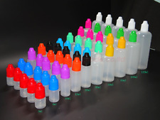 5ml 10ml 30ml 120ml Plastic Squeezable Dropper Bottles Eye Liquid Dropper LDPE
