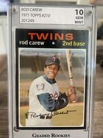 1971 Topps # 210  Rod Carew  Minnesota Twins HOF A Beautiful Card!  Stunner! 🔥