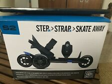 S2 Step Strap Skate Away Cardiff Skate Co Adjustable Skates Size 2 to 8 Blue