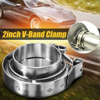 2'' 2 inch V-Band Flange & Stainless Steel Clamp Kit For Turbo Exhaust Downpipes