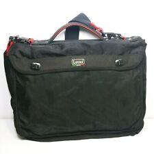 Lucas Original Black red Vintage Expandable Nylon messenger briefcase Bag