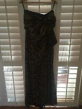 Carla Zampatti Floor Length Strapless dress Size 12 with Gold Shrug