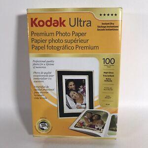Kodak 4x6 inches Ultra Premium Photo Paper High Gloss 100 Sheets New Open Box