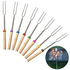 8pcs BBQ Telescoping Forks Skewers for Outdoor Campfire Patio Fire Pit