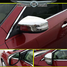 Fits 2015-2017 NISSAN SENTRA 13-17 Altima Chrome Mirror Covers Overlay w/TS hole