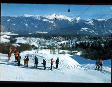 FLIMS WALDHAUS (SUISSE) MONITEUR de SKI & ENFANTS , CHALETS vue aérienne en 1973